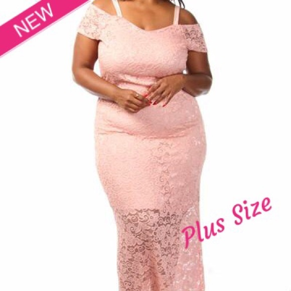 Boutique Dresses | Plus Size Lace Off The Shoulder Maxi Dress | Poshmark
